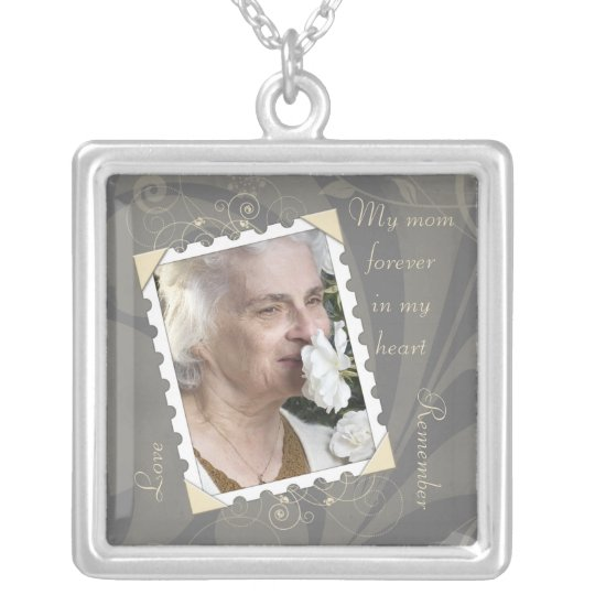 In Memory of Grey Photo Necklace
