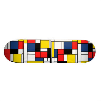 In Memory of Mondrian - Skate Deck