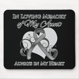 In Memory of My Aunt - Brain Cancer Mouse Pad