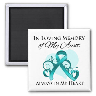 In Memory of My Aunt - Ovarian Cancer Refrigerator Magnet
