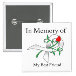In Memory of My Best Friend - Lung Cancer 2 Inch Square Button