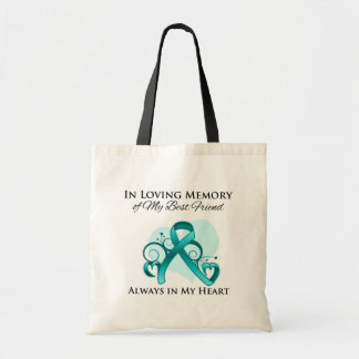 In Memory of My Best Friend - Ovarian Cancer Canvas Bag