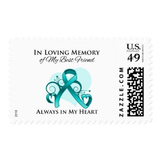 In Memory of My Best Friend - Ovarian Cancer Postage Stamps