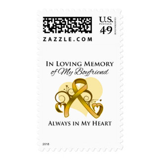 In Memory of My Boyfriend - Appendix Cancer Postage