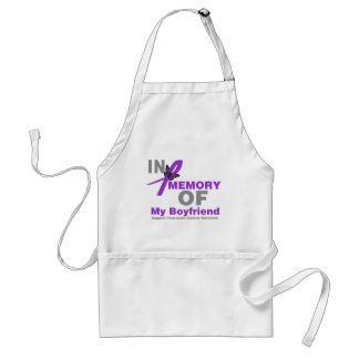 In Memory of My Boyfriend Pancreatic Cancer Apron