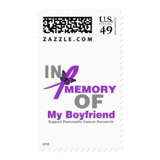 In Memory of My Boyfriend Pancreatic Cancer Postage Stamps