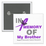 In Memory of My Brother Pancreatic Cancer Buttons