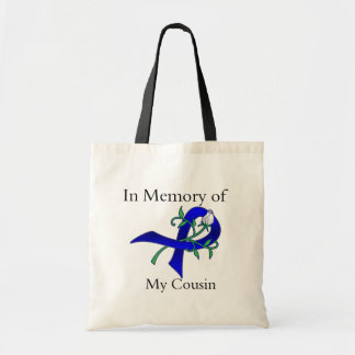 In Memory of My Cousin - Colon Cancer Canvas Bags