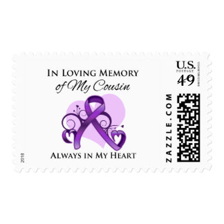 In Memory of My Cousin- Pancreatic Cancer Postage Stamp
