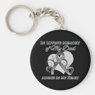 In Memory of My Dad - Brain Cancer Key Chains