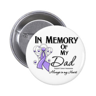 In Memory of My Dad Cancer Awareness Button