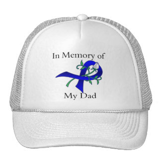 In Memory of My Dad - Colon Cancer Trucker Hats
