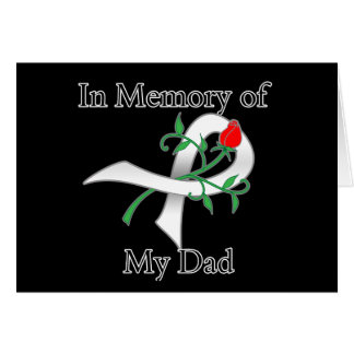 In Memory of My Dad - Lung Cancer Greeting Cards