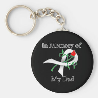 In Memory of My Dad - Lung Cancer Keychain
