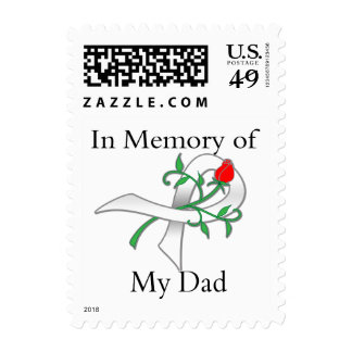 In Memory of My Dad - Lung Cancer Stamp