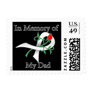 In Memory of My Dad - Lung Cancer Postage Stamps