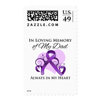 In Memory of My Dad - Pancreatic Cancer Postage Stamp