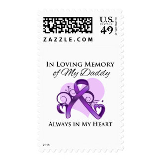 In Memory of My Daddy - Pancreatic Cancer Postage Stamp