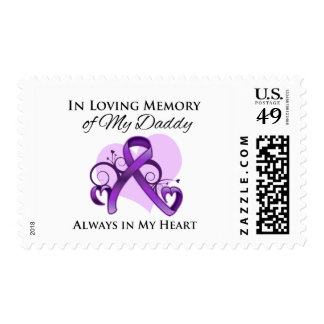 In Memory of My Daddy - Pancreatic Cancer Postage Stamps