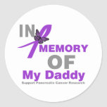 In Memory of My Daddy Pancreatic Cancer Stickers