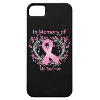 In Memory of My Daughter Breast Cancer Heart iPhone 5 Cases
