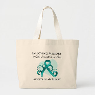 In Memory of My Daughter-in-Law - Ovarian Cancer Canvas Bag