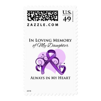 In Memory of My Daughter - Pancreatic Cancer Postage Stamps