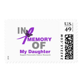 In Memory of My Daughter Pancreatic Cancer Postage Stamp