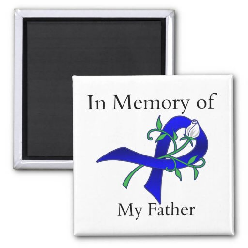 In Memory of My Father - Colon Cancer 2 Inch Square Magnet