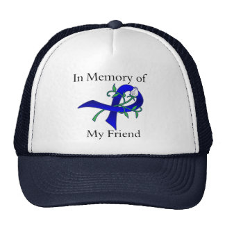 In Memory of My Friend - Colon Cancer Hats