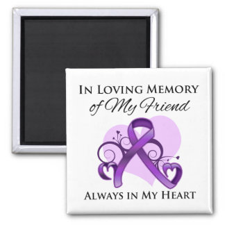 In Memory of My Friend - Pancreatic Cancer Magnets