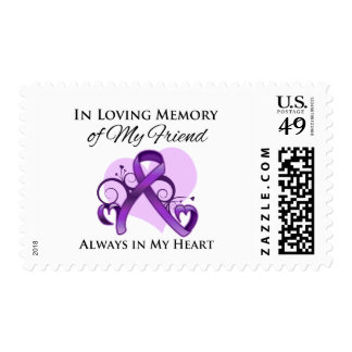 In Memory of My Friend - Pancreatic Cancer Postage