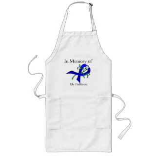In Memory of My Girlfriend - Colon Cancer Aprons