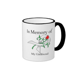 In Memory of My Girlfriend - Lung Cancer Coffee Mugs
