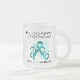 In Memory of My Girlfriend - Ovarian Cancer Mugs