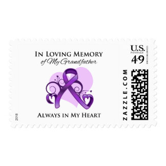 In Memory of My Grandfather - Pancreatic Cancer Postage