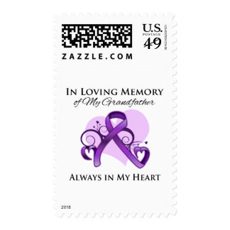 In Memory of My Grandfather - Pancreatic Cancer Postage Stamps