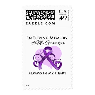 In Memory of My Grandpa - Pancreatic Cancer Stamps