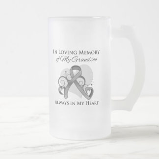 In Memory of My Grandson - Brain Cancer Mugs