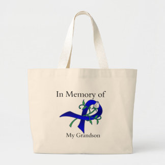 In Memory of My Grandson - Colon Cancer Tote Bag