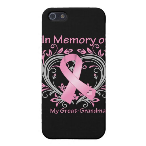 In Memory of My Great-Grandma Breast Cancer Heart iPhone 5 Cover