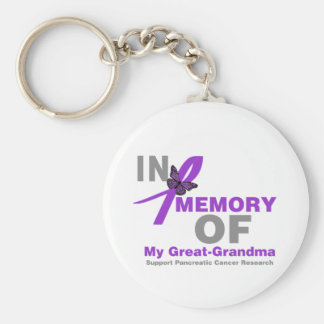 In Memory of My Great Grandma Pancreatic Cancer Basic Round Button Keychain