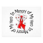 In Memory of My Hero AIDS Angel Wings Custom Announcements