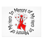 In Memory of My Hero AIDS Angel Wings Personalized Announcement