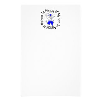In Memory of My Hero ALS Angel Wings Customized Stationery