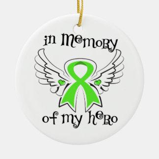 In Memory of My Hero Angel  Non-Hodgkin's Lymphoma Ceramic Ornament