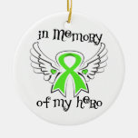 In Memory of My Hero Angel  Non-Hodgkin's Lymphoma Christmas Tree Ornaments
