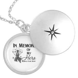 In Memory of My Hero Angel Wings Personalized Necklace