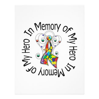 In Memory of My Hero Autism Angel Wings Full Color Flyer