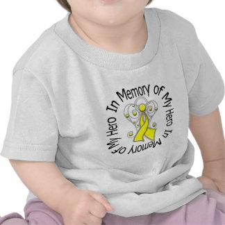 In Memory of My Hero Bladder Cancer Angel Wings v2 Tshirts